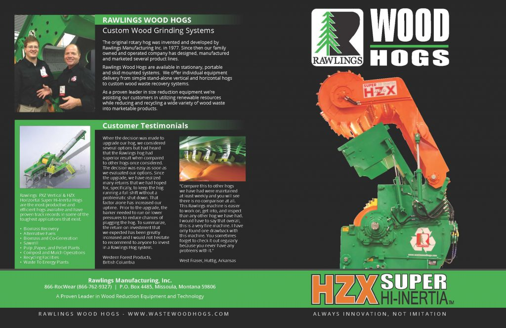 Rawlings Horizontal Hog Brochure